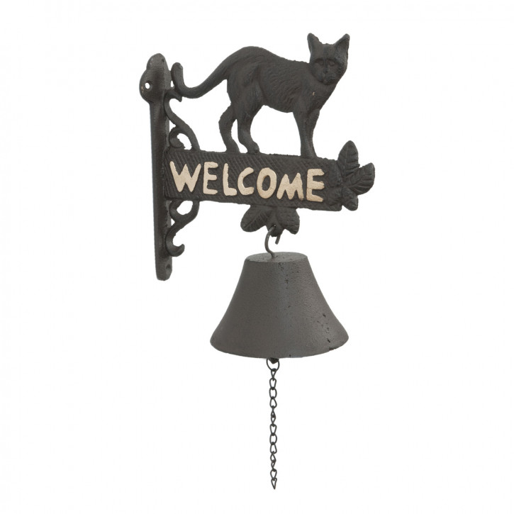 Türglocke Katze Welcome ca. 20 x 11 x 25 cm