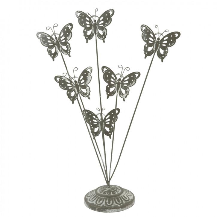 Fotohalter Schmetterlinge Grau ca. 35 x 9 cm