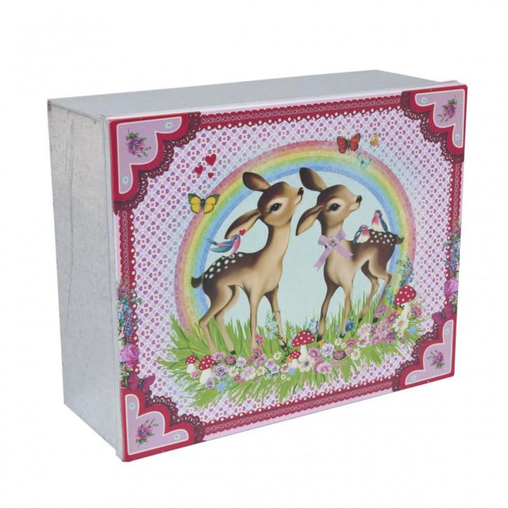 Schachtel ~ REH ~ bunt 23 x 18 x 8 cm