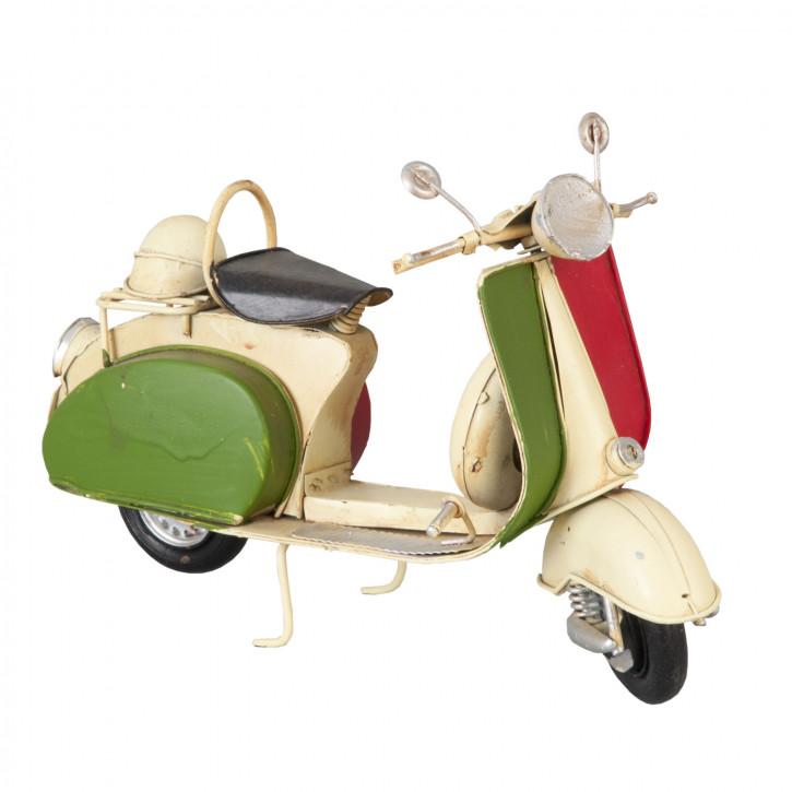 "Modell Motoroller Vespa ""Italia"" weiß aus Metall"