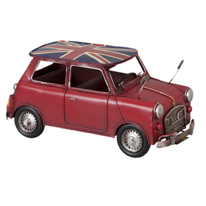Modell Mini Cooper in rot aus Metall
