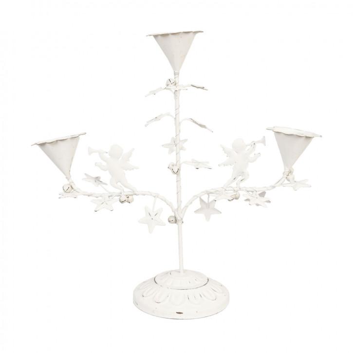 Kerzenhalter Weiß für 3 Kerzen ca. 32 x 12 x 31 cm