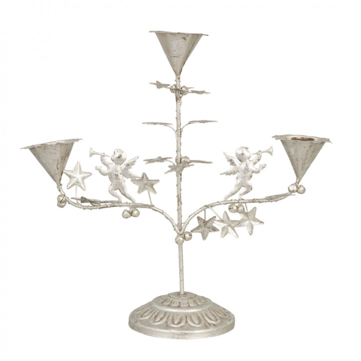 Kerzenhalter Silberfarben für 3 Kerzen ca. 32 x 12 x 31 cm