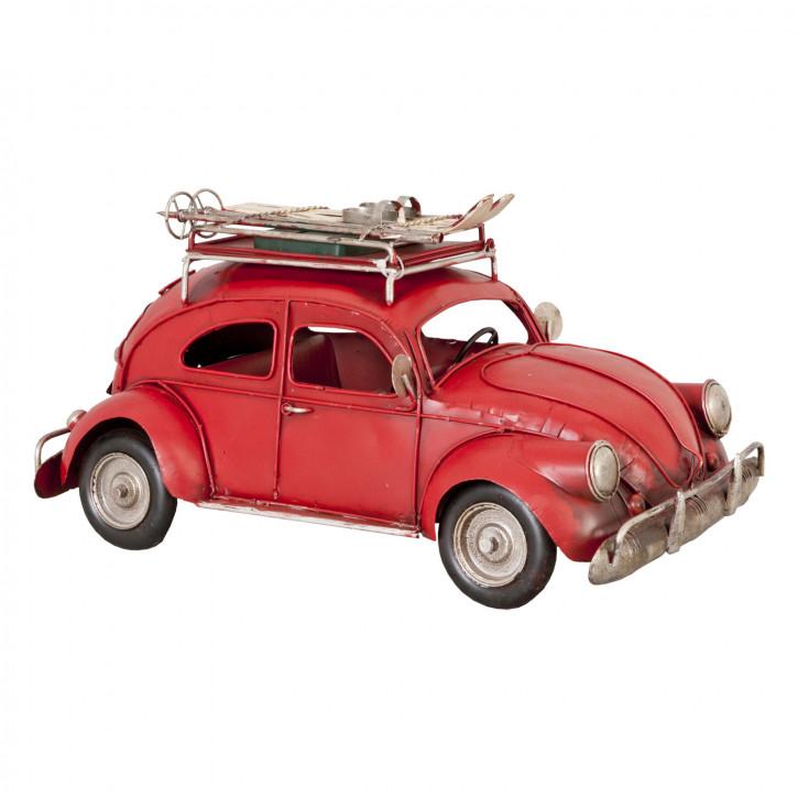 Fahrzeugmodell aus Metall rot Käfer