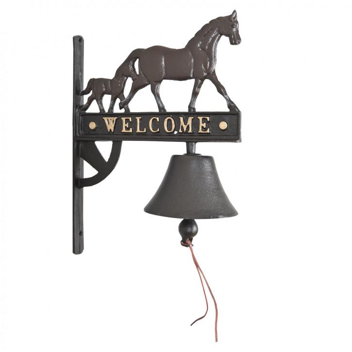 Bel met Paard 26x13x33 cm