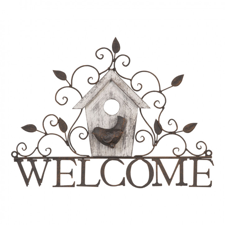 Hanger decoratie welcome 37x5x27 cm