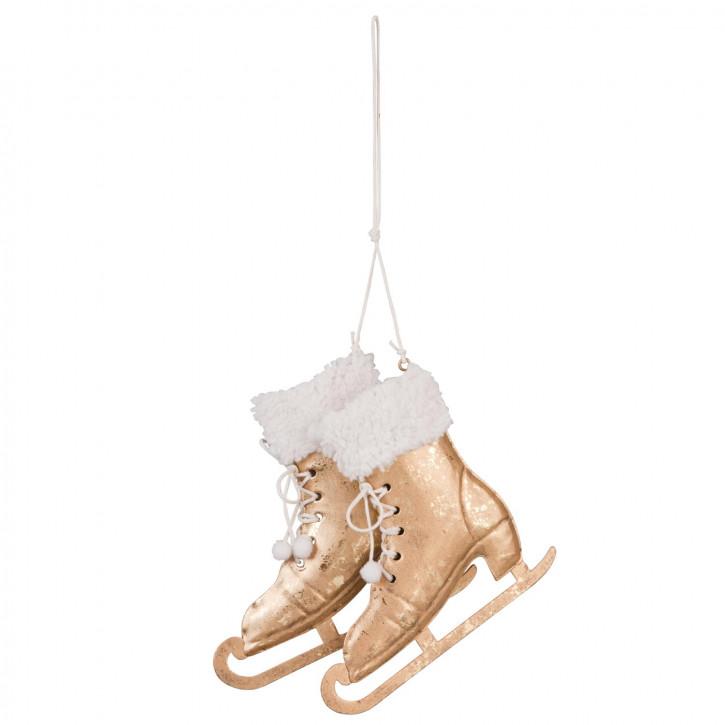 Dekoration schaats hangend 14x14 cm