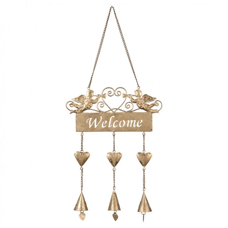 Dekoration welcome hangend 17x40 cm
