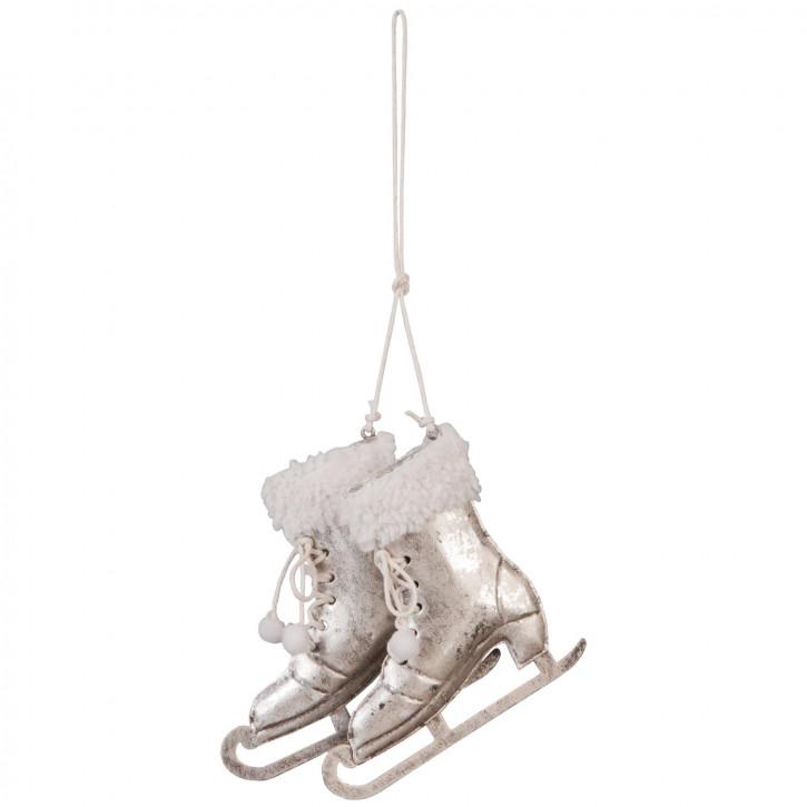 Dekoration schaats hangend 10x10 cm