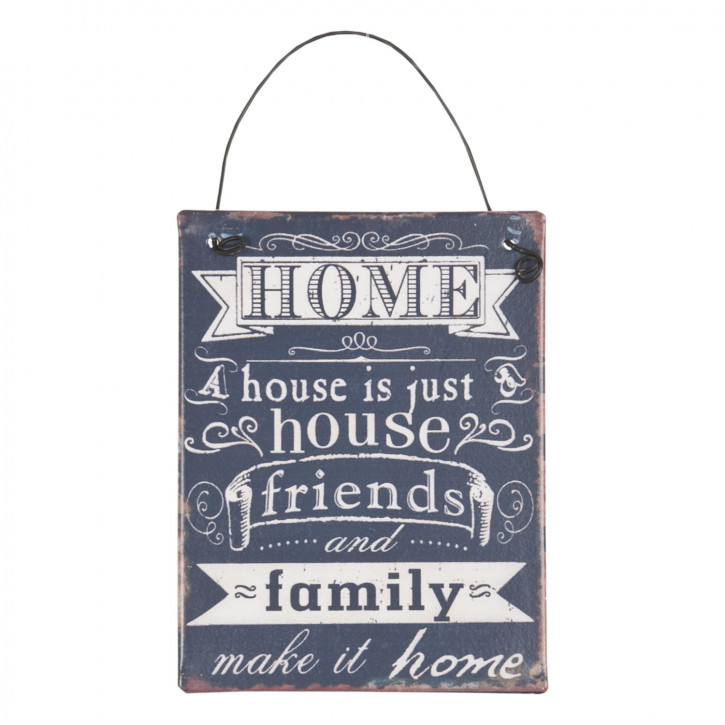 Textschild Schild Spruch HOME A house is just... ca. 8 x 10 cm