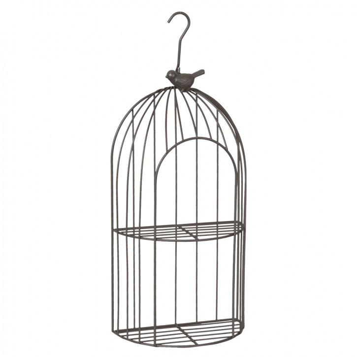 Eisenregal mit Haken zum Aufhängen Vogel braun ca. 17 x 9 x 33 cm