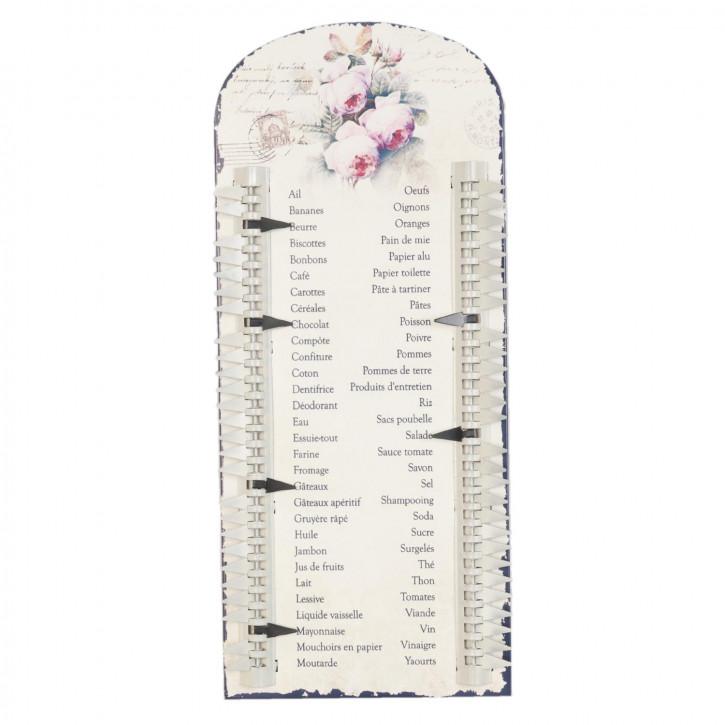 Shopping list Einkaufliste Blumen ca. 18 x 41 cm