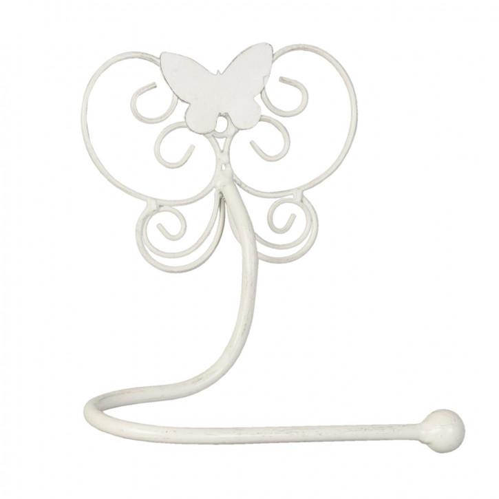 Gästetuchhalter Schmetterling weiß ca. 19 x 10 x 24 cm