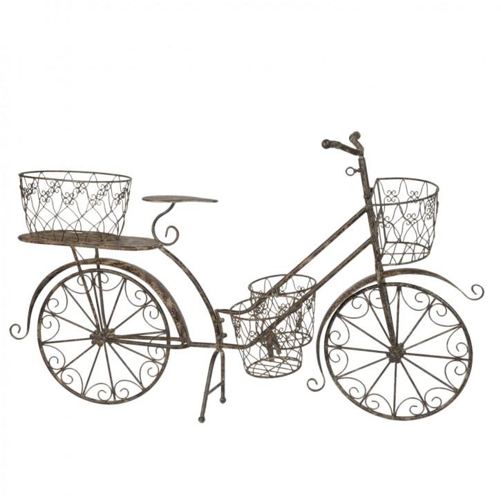 Pflanzenständer Eisenregal Fahrrad braun ca. 118 x 36 x 68 cm