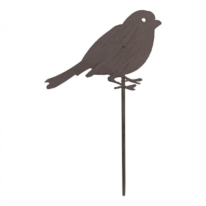 Gartenspitze Vogel braun ca. 20 x 40 cm