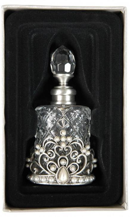 Kristall Parfümflasche in gold/silber