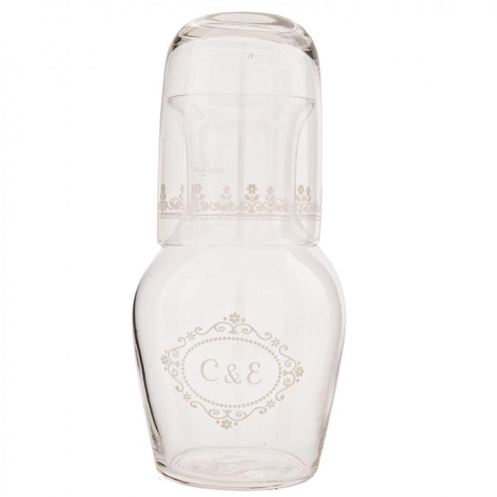 """Außergewöhnliche Flasche  """"C&E"""" 20cm"""
