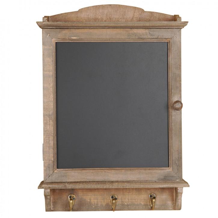 Tafel in nostalgie finish mit 3 Haken  34 x 8 x 47 cm