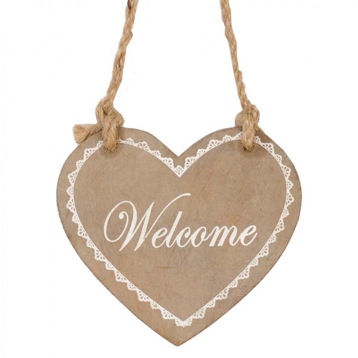Welcome-Herz zum Aufhängen
