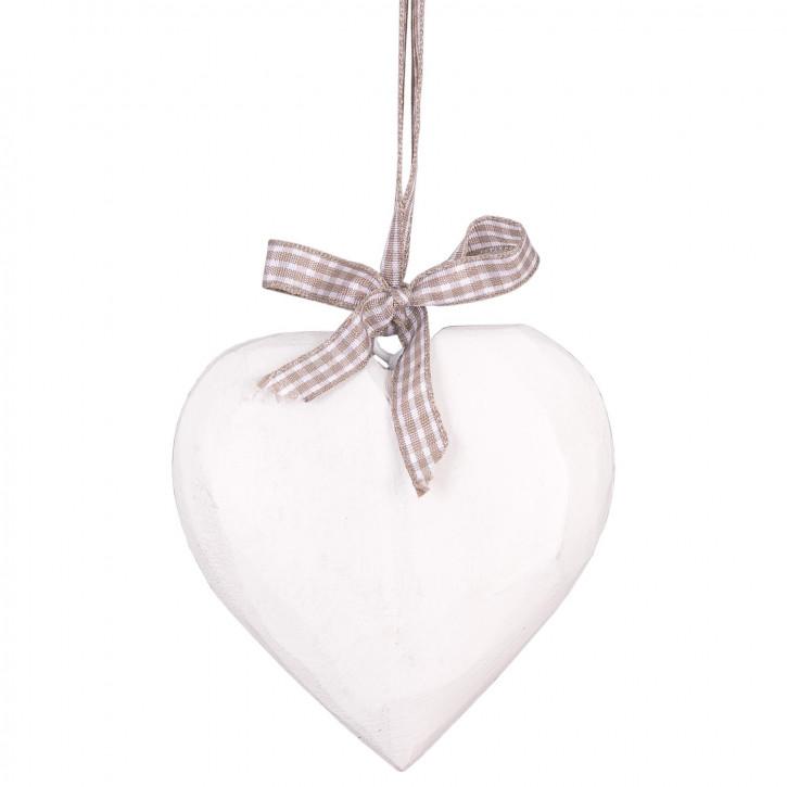 Deko Herz mit Schleife 10cm