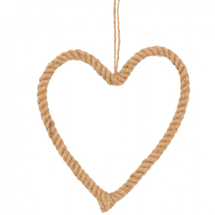Kordel-Herz zum Aufhängen im Set