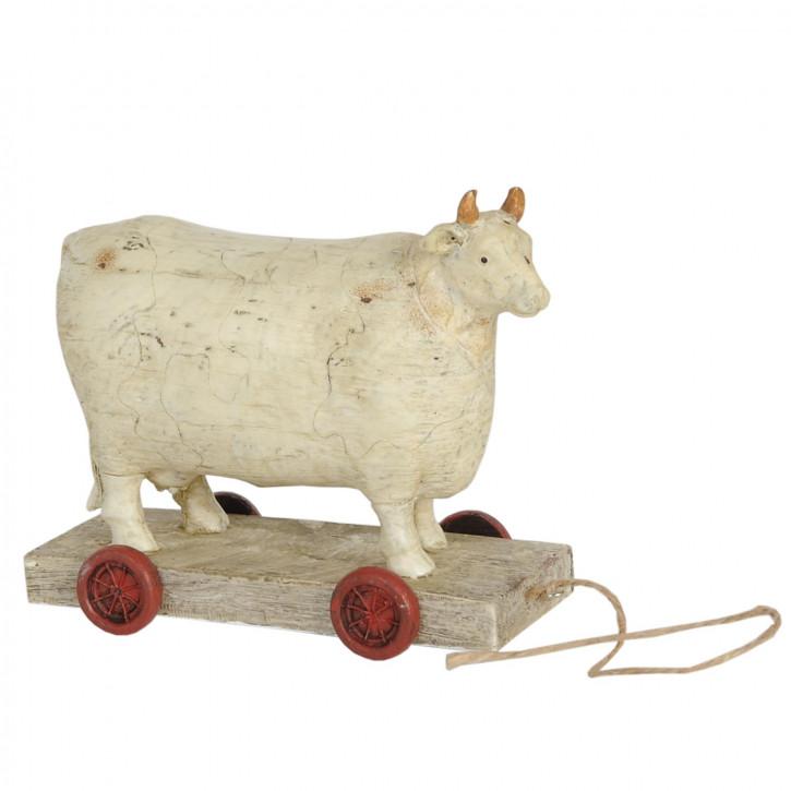 Kuh auf Rädern 14x7x12 cm