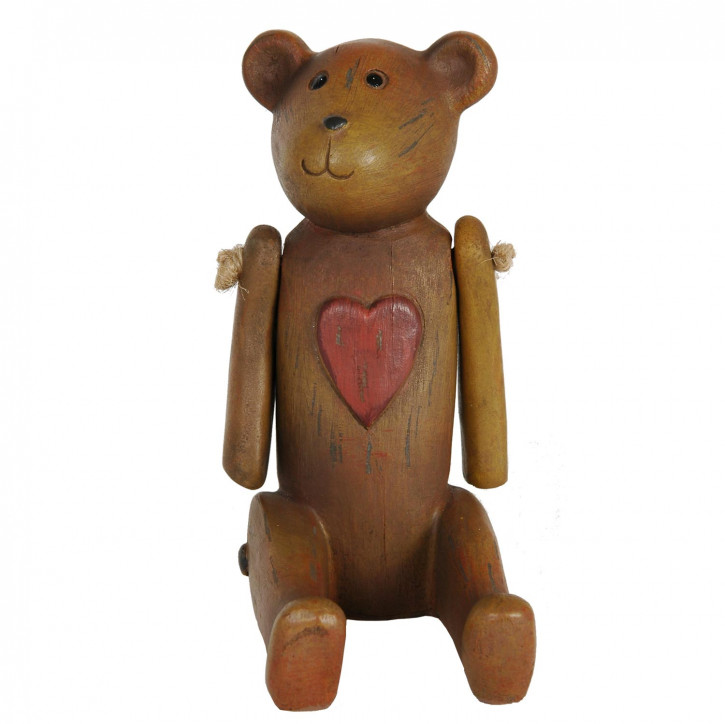 Deko Teddybär mit Herz