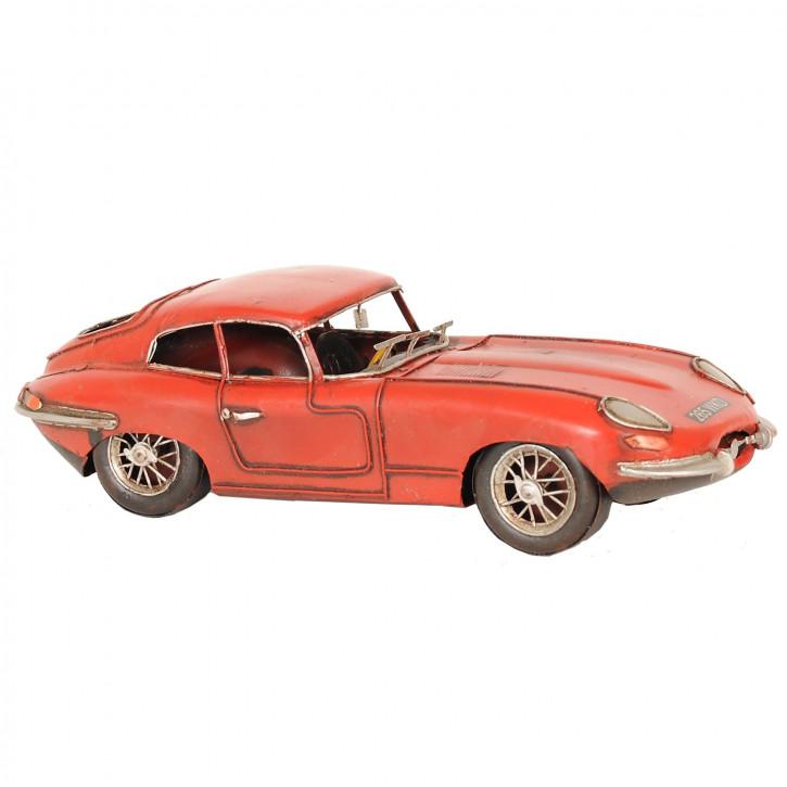 Modell Sportwagen Jaguar 1961 rot aus Metall