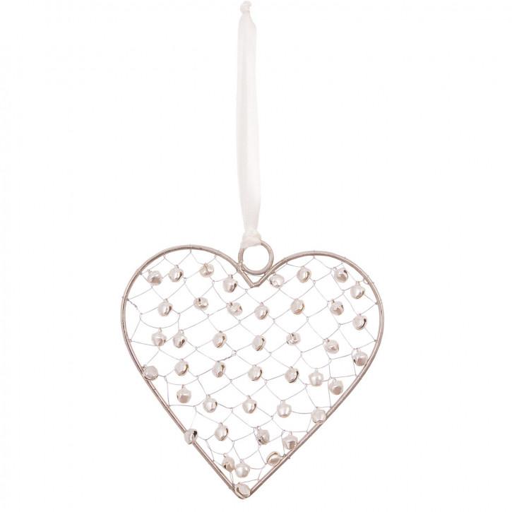 Herz mit Perlen zum Aufhängen
