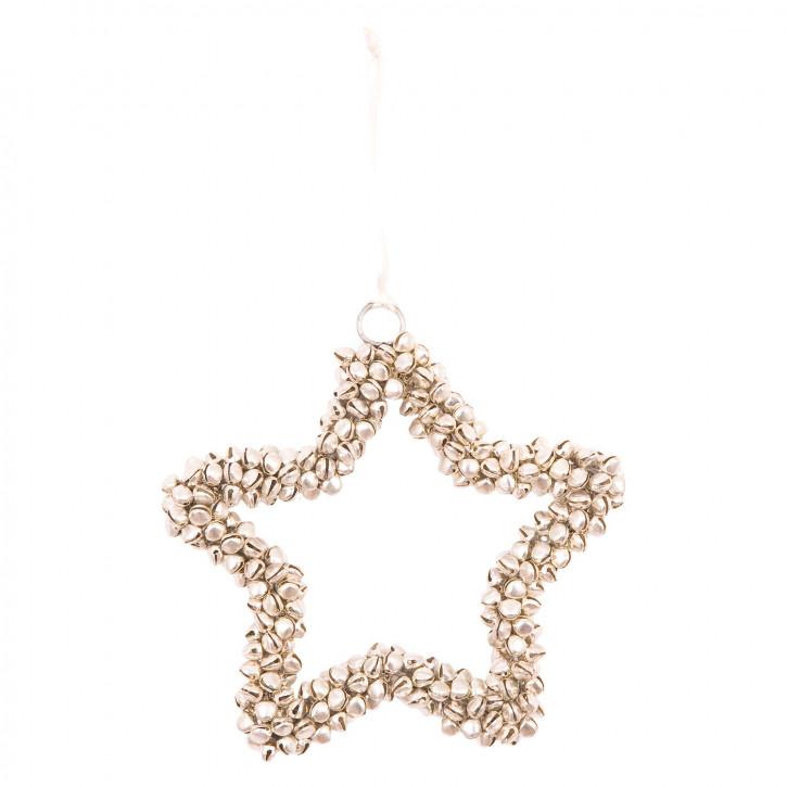 Stern aus Muschelperlen zum Aufhängen