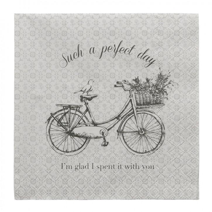 Papierservietten (20 Stück) Fahrrad ca. 33 x 33 cm