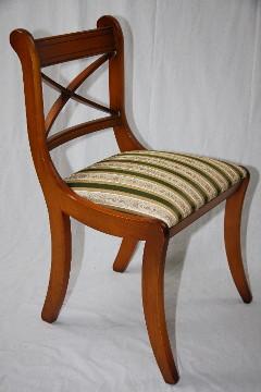 """""""Stick Chair Green Stripes"""" in Eibe - auch in Mahagoni erhältlich"""