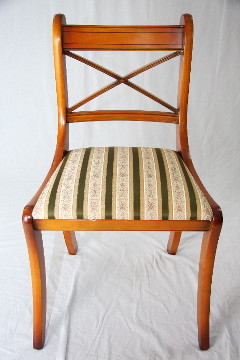Eibe Stick Chair green stripes   auch  in Mahagoni