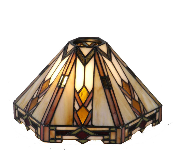 Tiffany Lampenschirm 6-Eckig Ø 25 cm