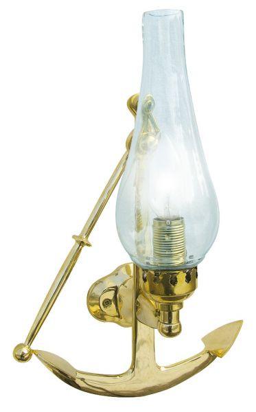 Wand-Leuchte - Anker, Messing lackiert, elektrisch 21,5x35x15cm