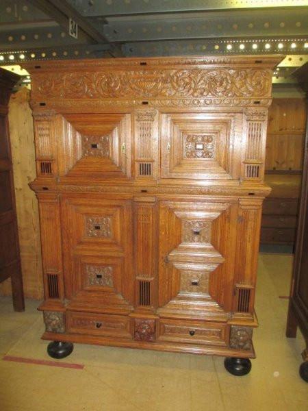 Antiker Wohnzimmer Esszimmerschrank Brotschrank