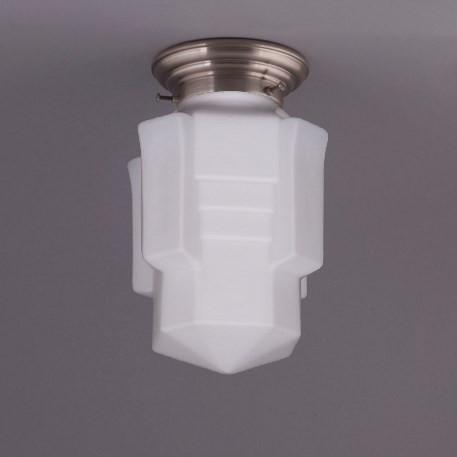 Deckenlampe Apollo Deckenplatte Gerundet  in Nickel Matt