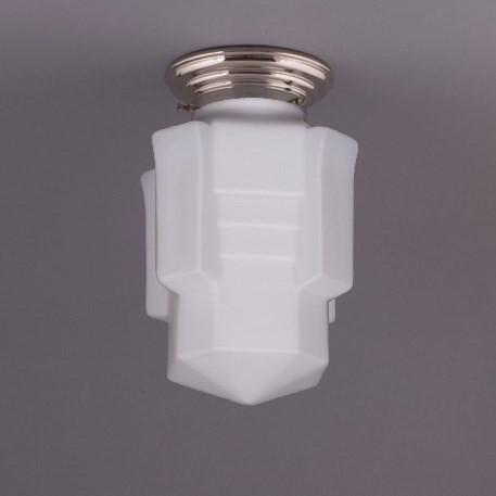 Deckenlampe Apollo Deckenplatte Gerundet  in Nickel