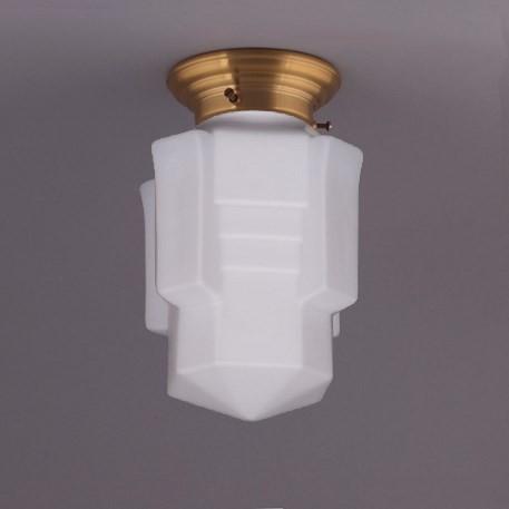 Deckenlampe Apollo Deckenplatte Gerundet  in Messing