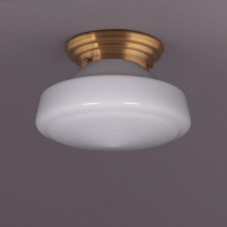 Deckenlampe Phililite Deckenplatte Gerundet  in Messing