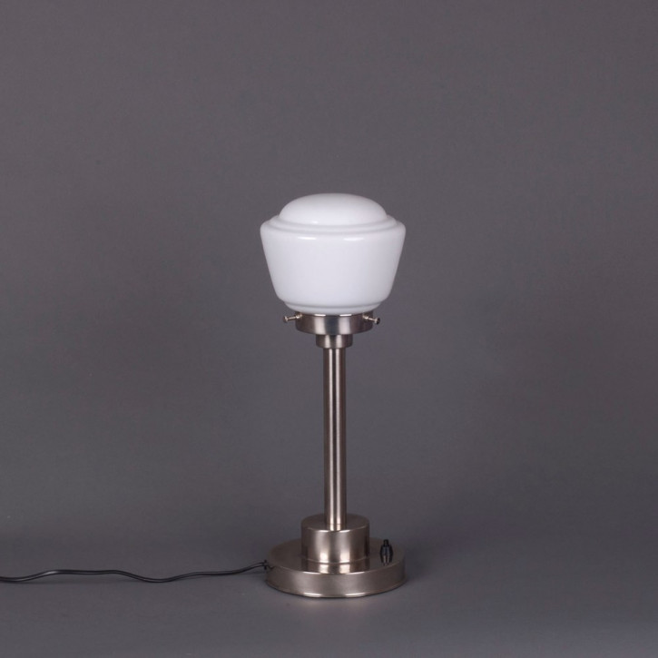 Tischlampe High Button Armatur Kantig  in Nickel Matt