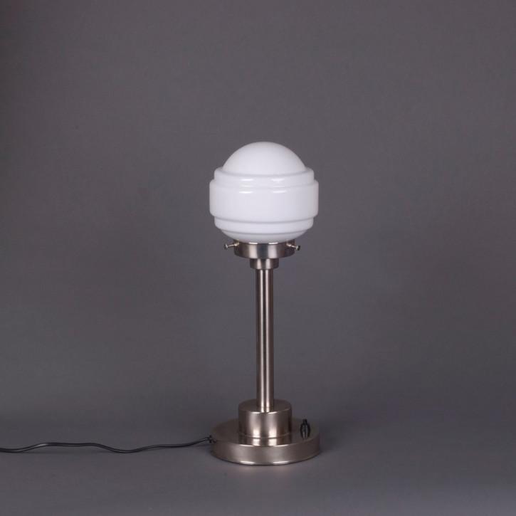 Tischlampe Polkadot  Armatur Kantig  in Nickel Matt