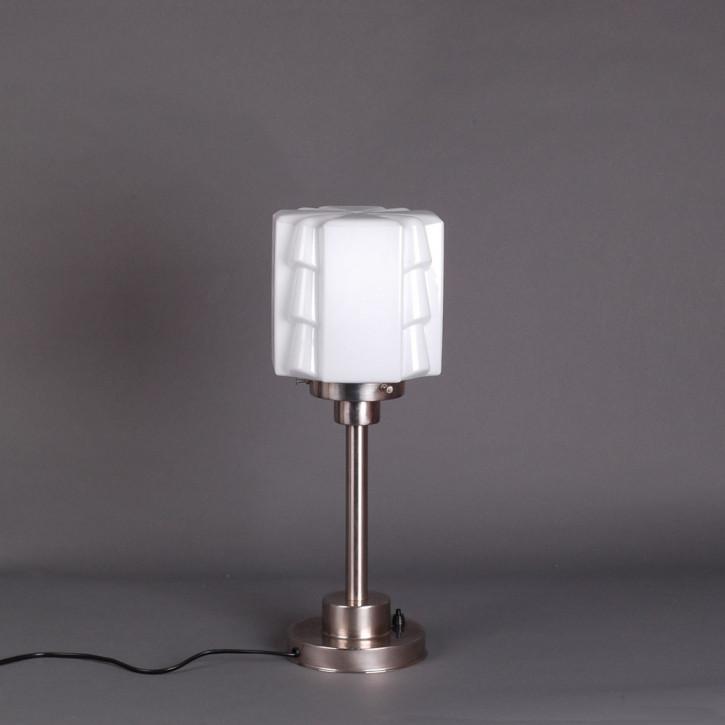 Tischlampe Expressionism Armatur Kantig  in Nickel Matt