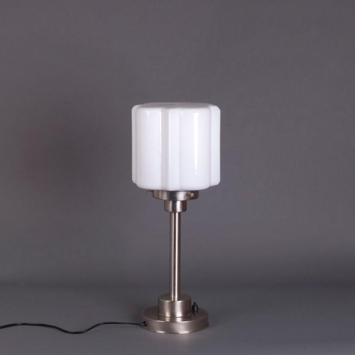Tischlampe Kramer  Armatur Kantig  in Nickel Matt