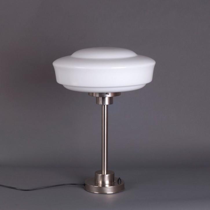 Tischlampe Saucer Armatur Kantig  in Nickel Matt