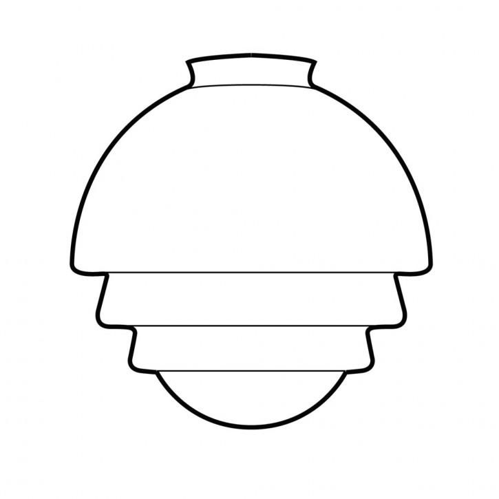 Tischlampe Citrus Small Armatur Kantig  in Nickel Matt