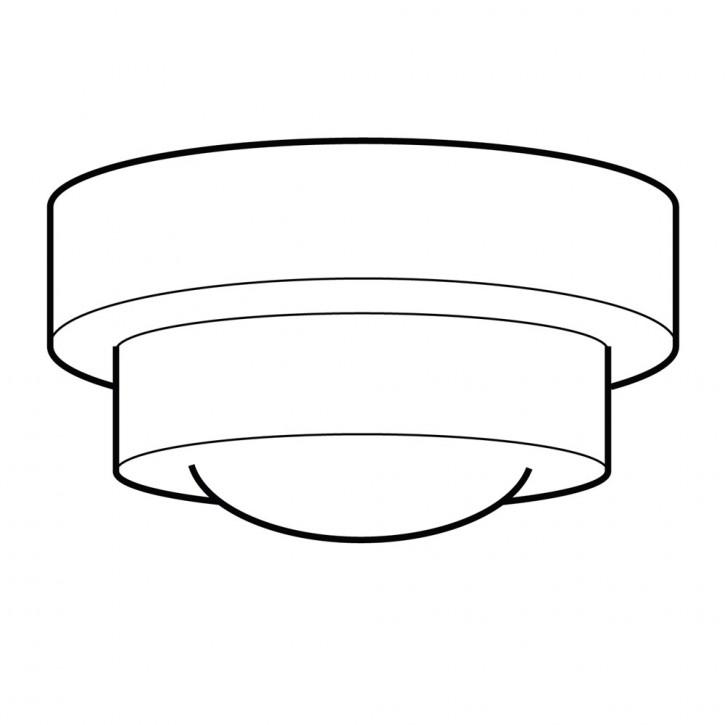 Tischlampe Semi-Round Stepped Globe Armatur Kantig  in Nickel Matt