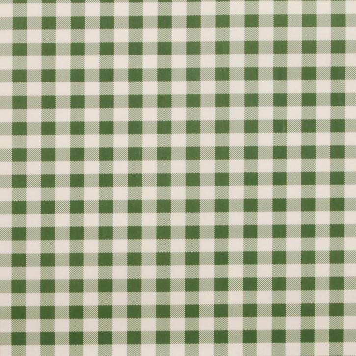 Wachstuch Tischtuch grün weiß kariert 140 x 200 cm