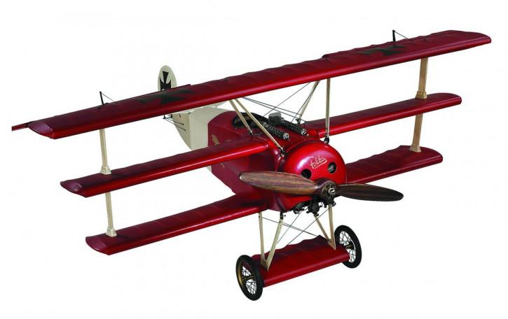 Modellflugzeug - Fokker Triplane (Red Baron), Klein