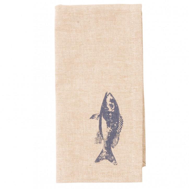 Servietten mit Fischmotiv (6er Set)
